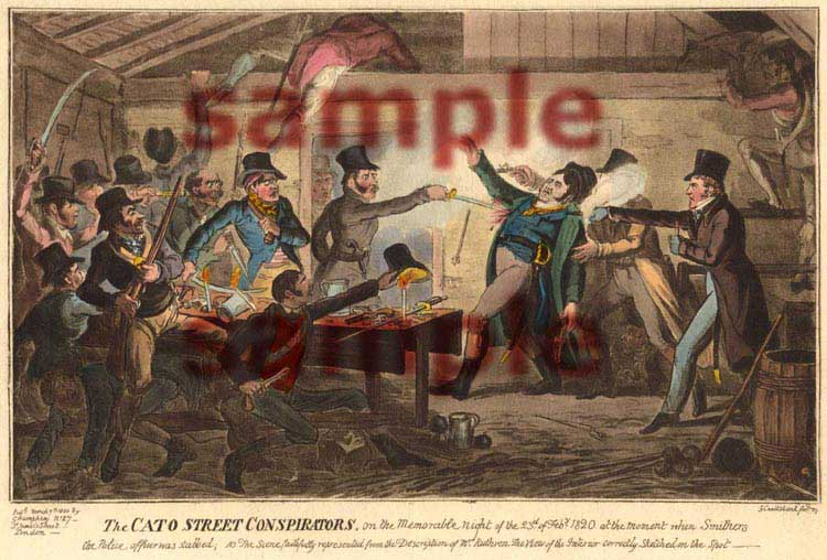 The Cato Street Conspirators, Painted by George Cruikshank