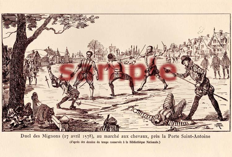 Duel des Mignons, A 1892 print