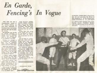 Article that appear in the Journal American newspaper circa early 1950's