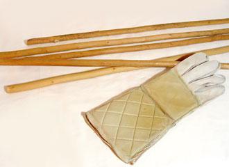 """La Canne"", sticks used for training."