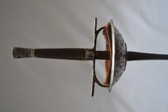 Fig. 18. Parise Model, Circa. Early1900's. Nickel plated and engraved. Previously owned by Maitre Marcel Cabijos.